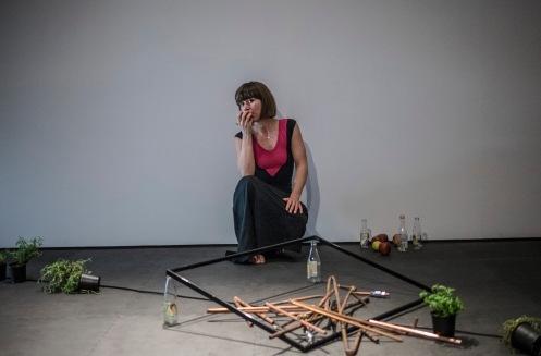 Which Part. genrep. Museum Anna Nordlander, Skellefteå 2016 02 25. Which Part är en koreograferad utställning med dansande och samtalande, som förändras med och av varje besökares närvaro. Which Part hade premiär i Florence på Fabbrica Europa 2012, då med Ina Dokmo och Benjamin Andrae. Detta är en omarbetning av verket, som nu spelas med Ina Dokmo, Ingvild Isaksen, Alice MacKenzie och Clare Daly. Idé/Koreografi: Ina Dokmo Omarbetning av Which Part: Ina Dokmo i samarbete med Alice MacKenzie och Ingvild Isaksen Dansande/uppträdande: Clare Daly (i ipad), Ina Dokmo, Ingvild Isaksen och Alice MacKenzie. Photo: Krister Hägglund